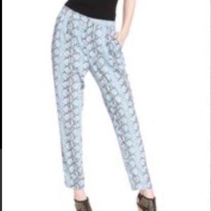 P225 Rachel Roy Blue Python Print Pants
